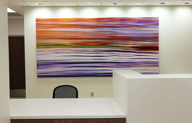 Art work can be seen throughout the facility of the new Clinical Pavilion at the Robert B. Green Campus of the University Health System was held on Saturday, Jan. 12, 2013. The outpatient clinic features urgent and primary care services as well as a new larger pharmacy next door. The six-story, 269,000 square-foot building was part of the health system's $899 million Capital Improvement Program. About one percent of the project's budget was devoted to public art and design enhancements according to a press release. Photo: Kin Man Hui, San Antonio Express-News / ©2012 San Antonio Express-News
