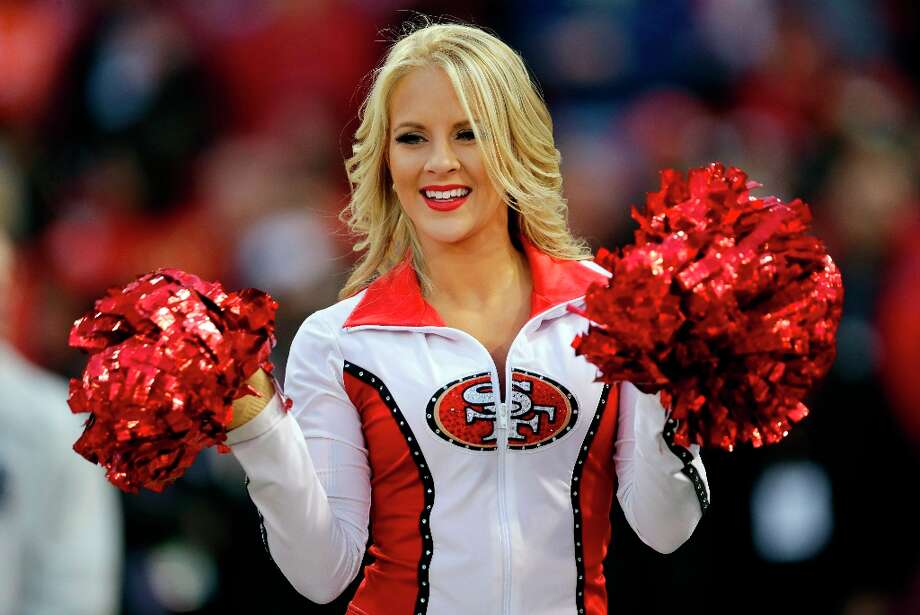A San Francisco 49ers cheerleader performs before an NFC divisional playoff NFL football game against the Green Bay Packers in San Francisco, Saturday, Jan. 12, 2013. Photo: Marcio Jose Sanchez, Associated Press / AP