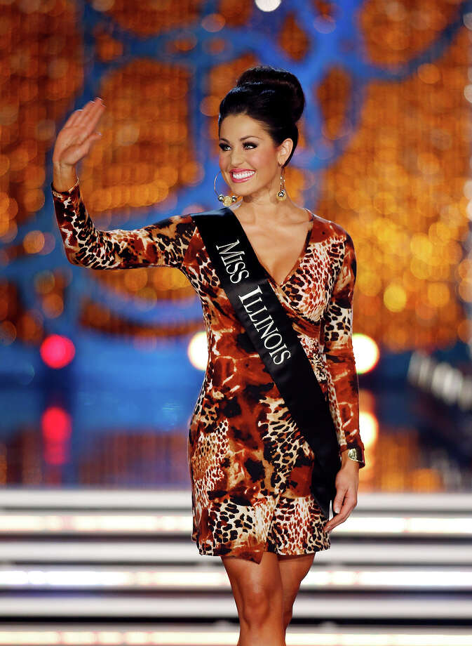 Miss Illinois Megan Ervin competes in the Miss America pageant on Saturday, Jan. 12, 2013, in Las Vegas. (AP Photo/Isaac Brekken) Photo: Isaac Brekken, ASSOCIATED PRESS / AP2013