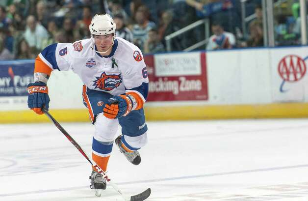Bridgeport Sound Tigers Ty Wishart during an American Hockey League game against the Portland Pirates played at the Webster Bank Arena, Bridgeport, CT on Saturday January 12th, 2013. Photo: Mark Conrad / Connecticut Post Freelance