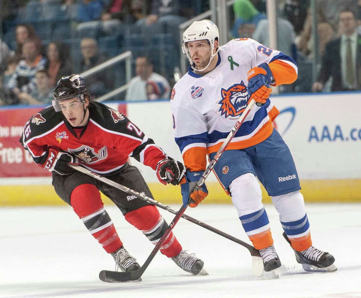 Tuesday: The Bridgeport Sound Tigers face the Portland Pirates at 7 p.m. at Webster Bank Arena in Bridgeport.