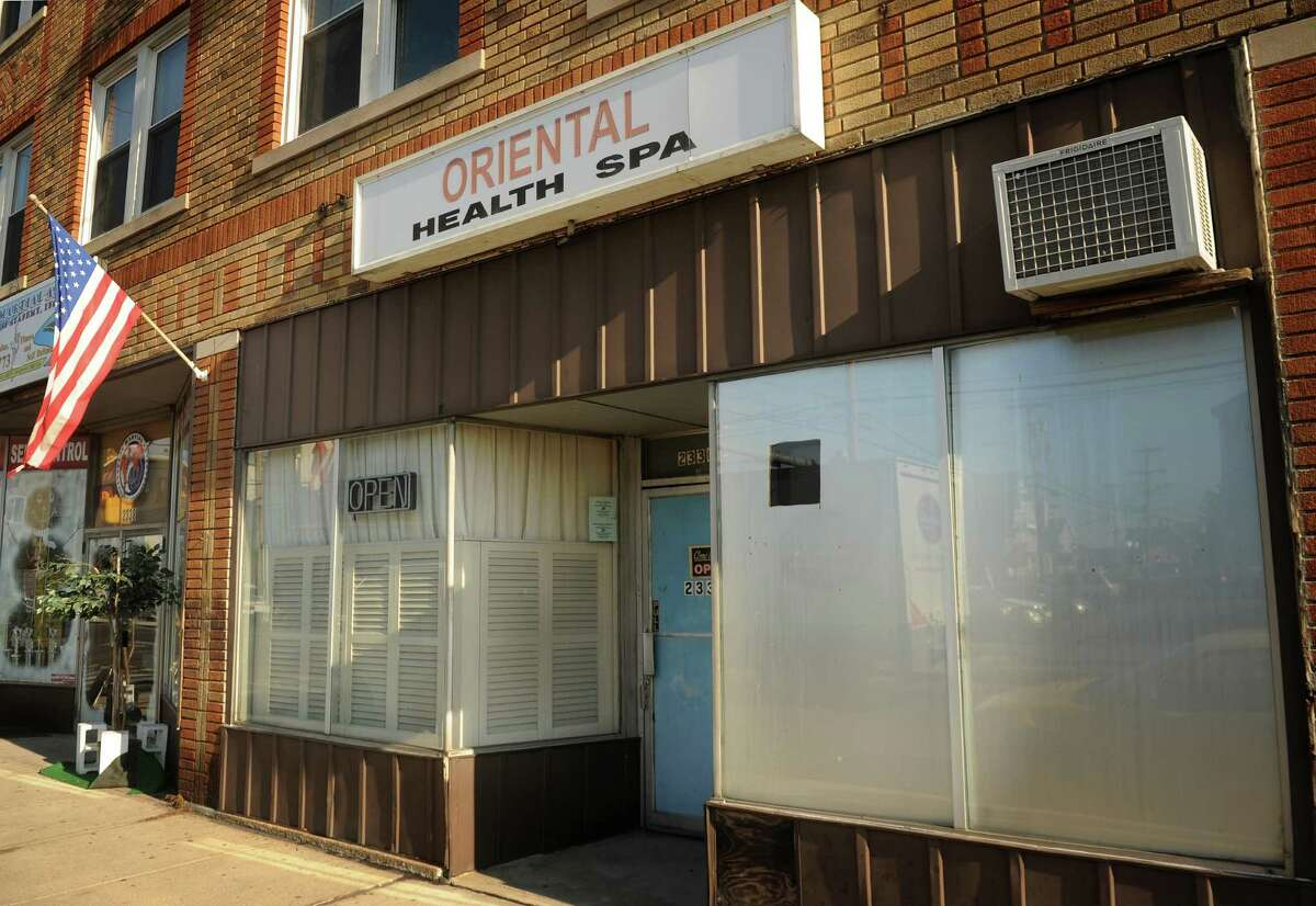 Oriental Health Spa massage parlor at 2336 Main Street in Bridgeport on Tuesday, January 8, 2012.
