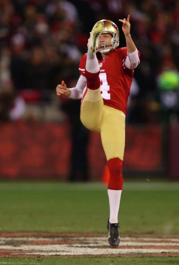 Punter Andy Lee (4) in the first half of the San Francisco 49ers game against the Green Bay Packers in the NFC Divisional Playoffs at Candlestick Park in San Francisco, Calif., on Saturday January 12, 2013. Photo: Micheal Macor, The Chronicle / ONLINE_YES