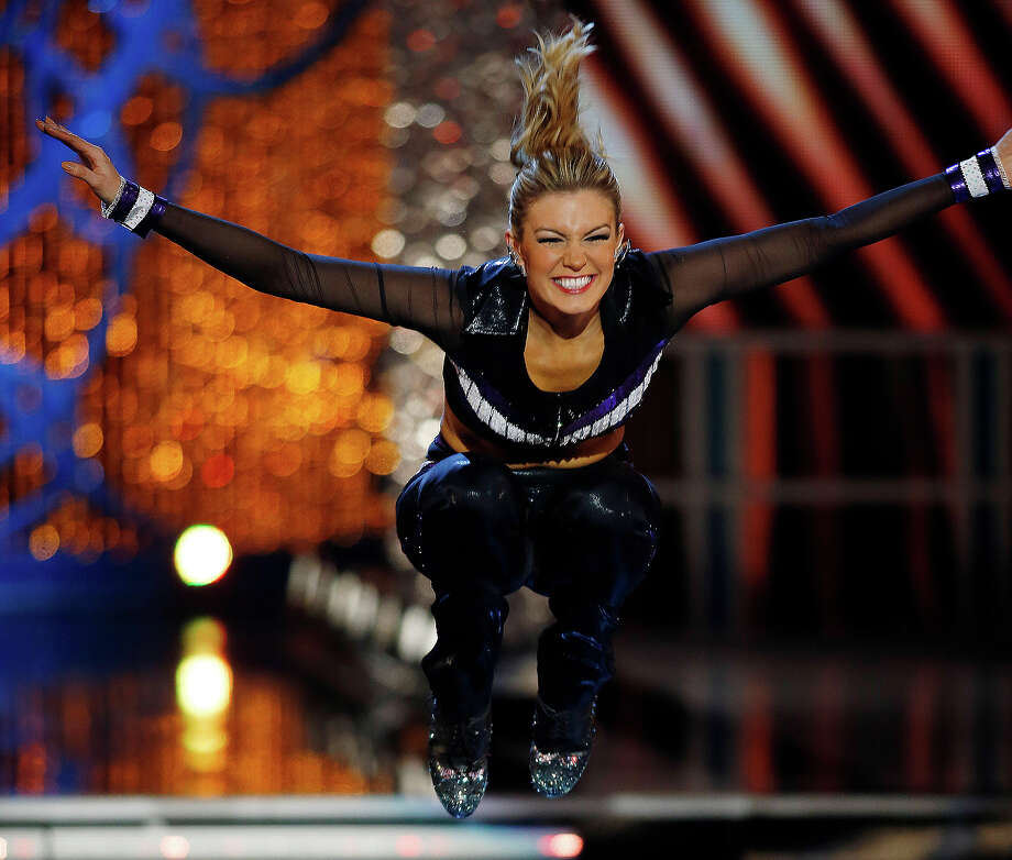 Miss New York Mallory Hytes Hagan competes in the talent portion of the Miss America 2013 pageant on Saturday, Jan. 12, 2013, in Las Vegas. Hytes Hagan won the competition. (AP Photo/Isaac Brekken) Photo: Isaac Brekken, ASSOCIATED PRESS / AP2013
