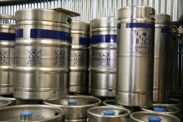 Kegs wait for production to ramp up at Branchline Brewing Co.