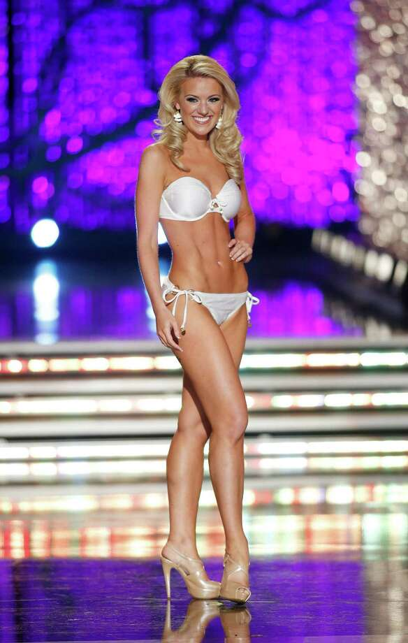 Miss Washington Mandy Schendel competes in the swimsuit portion of the Miss America 2013 pageant on Saturday, Jan. 12, 2013, in Las Vegas. Photo: AP