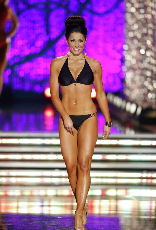 Miss Illinois Megan Irvin competes in the swimsuit portion of the Miss America 2013 pageant on Saturday, Jan. 12, 2013, in Las Vegas. Photo: AP