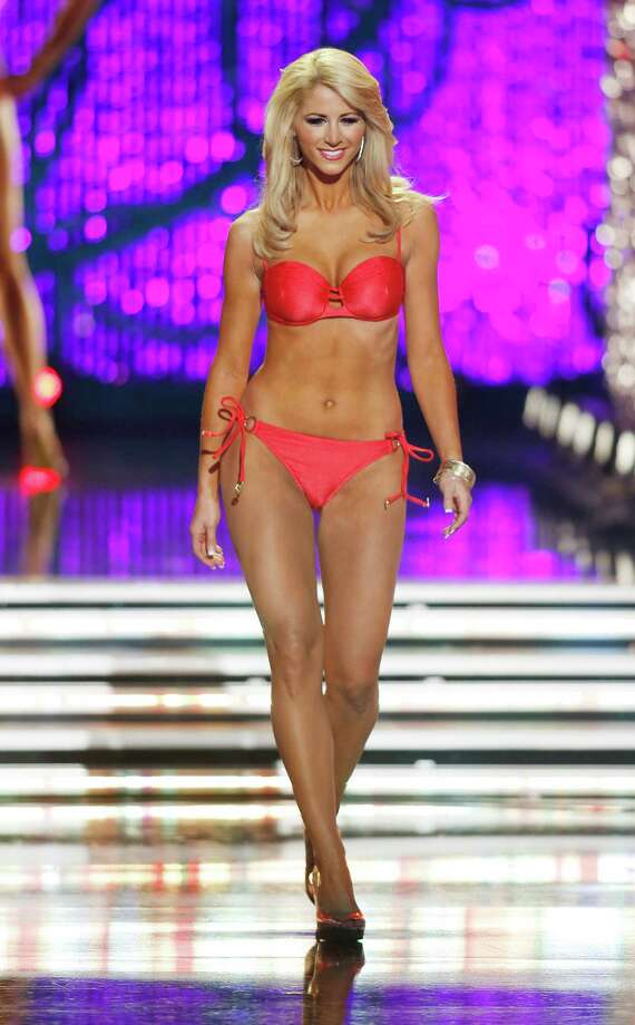 Miss Florida Laura McKeeman competes in the swimsuit portion of the Miss America 2013 pageant on Saturday, Jan. 12, 2013, in Las Vegas. Photo: AP