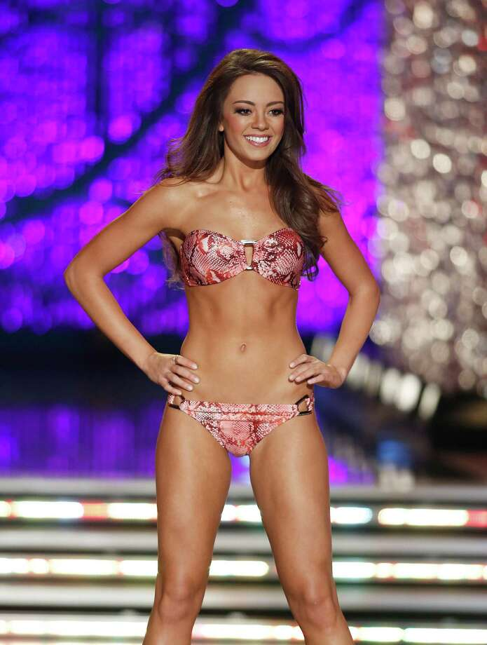 Miss Kentucky Jessica Casebolt competes in the swimsuit portion of the Miss America 2013 pageant on Saturday, Jan. 12, 2013, in Las Vegas. Photo: AP