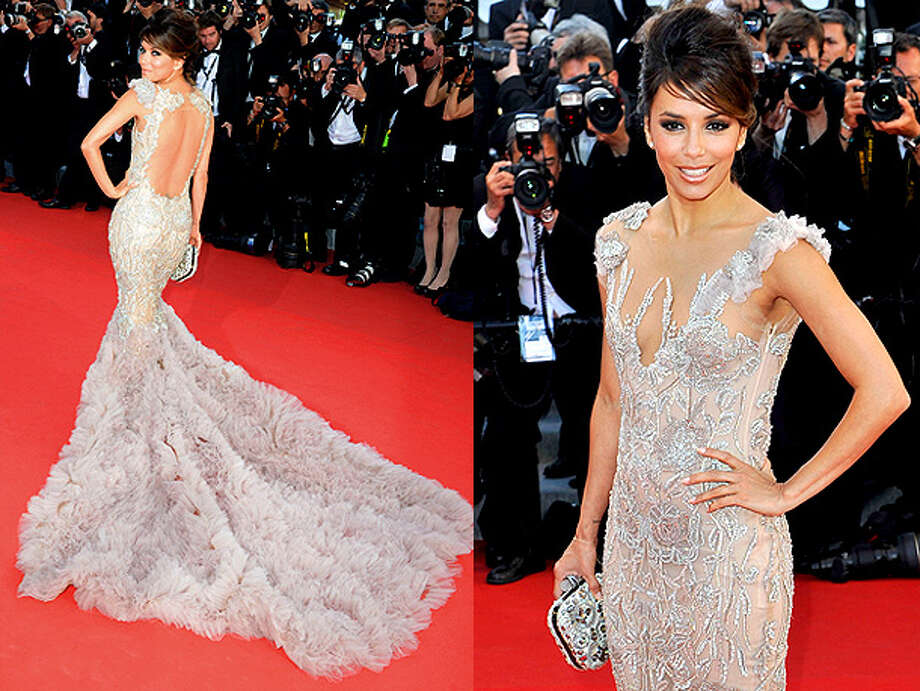 Eva Longoria flaunts the storybook stunner she wore at Cannes this year.