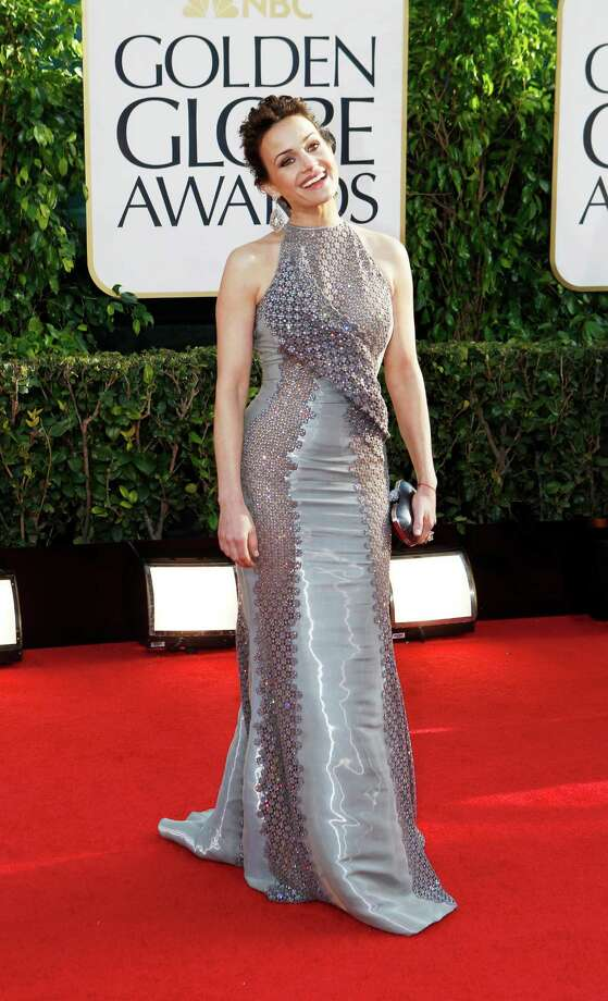 Carla Gugino arrives for the 70th Annual Golden Globe Awards show at the Beverly Hilton Hotel on Sunday, January 13, 2013, in Beverly Hills, California. (Wally Skalij/Los Angeles Times/MCT) Photo: Wally Skalij, McClatchy-Tribune News Service / Los Angeles Times