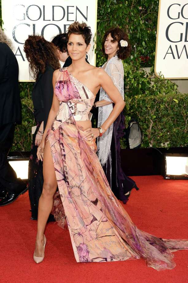 BEVERLY HILLS, CA - JANUARY 13:  Actress Halle Berry arrives at the 70th Annual Golden Globe Awards held at The Beverly Hilton Hotel on January 13, 2013 in Beverly Hills, California. Photo: Jason Merritt, Getty Images / 2013 Getty Images