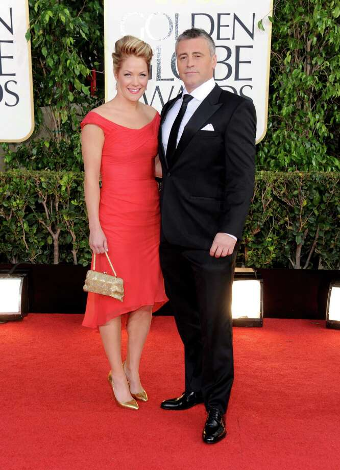 Actor Matt LeBlanc, right, and Melissa McKnight arrive at the 70th Annual Golden Globe Awards at the Beverly Hilton Hotel on Sunday Jan. 13, 2013, in Beverly Hills, Calif. (Photo by Jordan Strauss/Invision/AP) Photo: Jordan Strauss, Associated Press / Invision