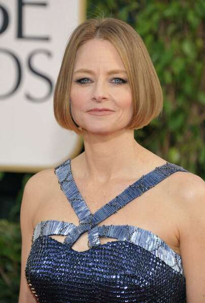 Jodie Foster arrives at the 70th Annual Golden Globe Awards at the Beverly Hilton Hotel on Sunday Ja