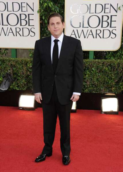 Actor Jonah Hill arrives at the 70th Annual Golden Globe Awards at the Beverly Hilton Hotel on Sunda