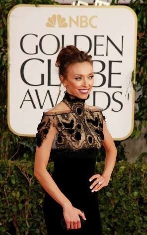 Giuliana Rancic arrives for the 70th Annual Golden Globe Awards show at the Beverly Hilton Hotel on Sunday, January 13, 2013, in Beverly Hills, California. (Kirk McKoy/Los Angeles Times/MCT) Photo: Kirk McKoy, McClatchy-Tribune News Service / Los Angeles Times
