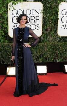 Actress Morena Baccarin arrives at the 70th Annual Golden Globe Awards at the Beverly Hilton Hotel on Sunday Jan. 13, 2013, in Beverly Hills, Calif. (Photo by Jordan Strauss/Invision/AP) Photo: Jordan Strauss, Associated Press / Invision