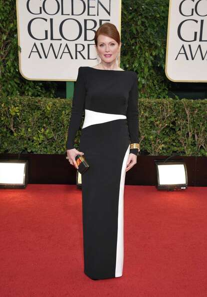 Actress Julianne Moore arrives at the 70th Annual Golden Globe Awards at the Beverly Hilton Hotel on