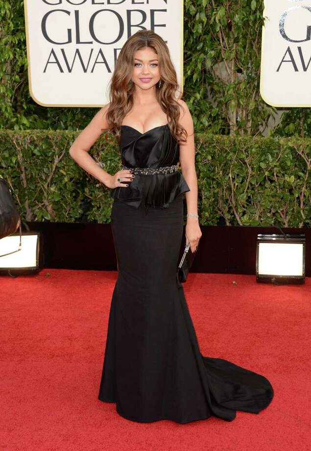 BEVERLY HILLS, CA - JANUARY 13:  Actress Sarah Hyland arrives at the 70th Annual Golden Globe Awards held at The Beverly Hilton Hotel on January 13, 2013 in Beverly Hills, California. Photo: Jason Merritt, Getty Images / 2013 Getty Images