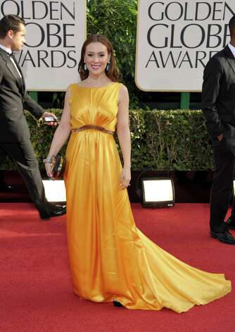Alyssa Milano arrives at the 70th Annual Golden Globe Awards at the Beverly Hilton Hotel on Sunday Jan. 13, 2013, in Beverly Hills, Calif. Photo: John Shearer/Invision/AP