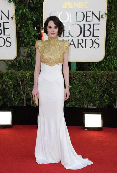 Actress Michelle Dockery arrives at the 70th Annual Golden Globe Awards at the Beverly Hilton Hotel