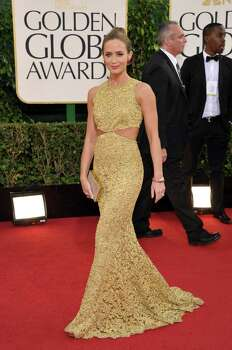 Actress Emily Blunt arrives at the 70th Annual Golden Globe Awards at the Beverly Hilton Hotel on Sunday Jan. 13, 2013, in Beverly Hills, Calif. Photo: John Shearer/Invision/AP