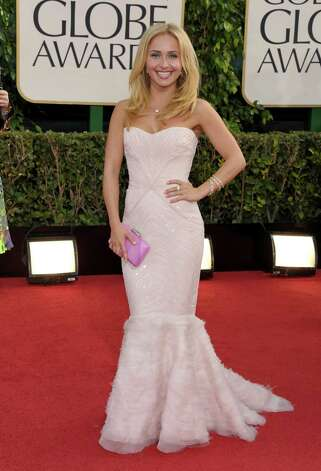 "Best: Hayden Panettiere has never looked better. This is a small person (she's 5-2, optimistically) who can easily look short and stocky, but there's no evidence of that here, even with the ""mermaid"" footing on this gown that seems to be popular now. She accessorized perfectly and kept her hair and makeup simple. Photo: John Shearer/Invision/AP"