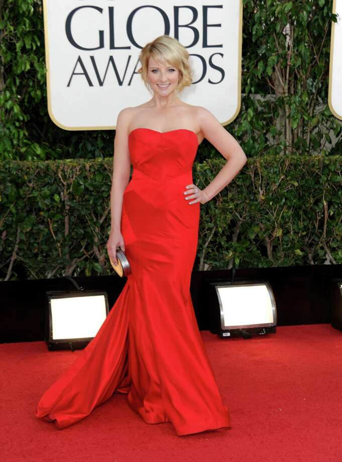 Actress Melissa Rauch arrives at the 70th Annual Golden Globe Awards at the Beverly Hilton Hotel on Sunday Jan. 13, 2013, in Beverly Hills, Calif. Photo: Jordan Strauss/Invision/AP