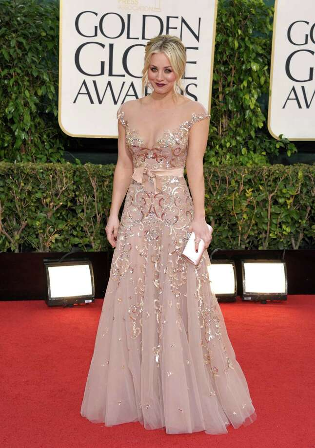 Actress Kaley Cuoco arrives at the 70th Annual Golden Globe Awards at the Beverly Hilton Hotel on Sunday Jan. 13, 2013, in Beverly Hills, Calif. Photo: John Shearer/Invision/AP