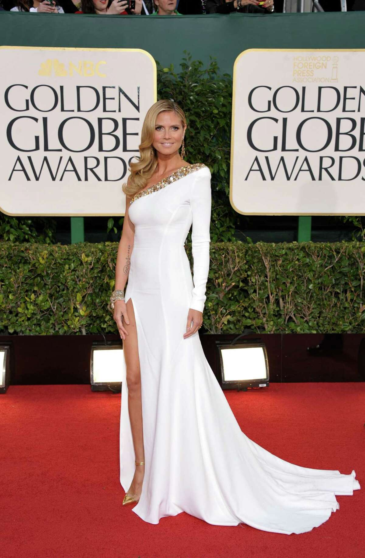 Worst: This looks like a pageant gown on Heidi Klum -- dated and too hoochie for the occasion.