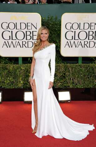 Worst: This looks like a pageant gown on Heidi Klum -- dated and too hoochie for the occasion. Photo: John Shearer/Invision/AP