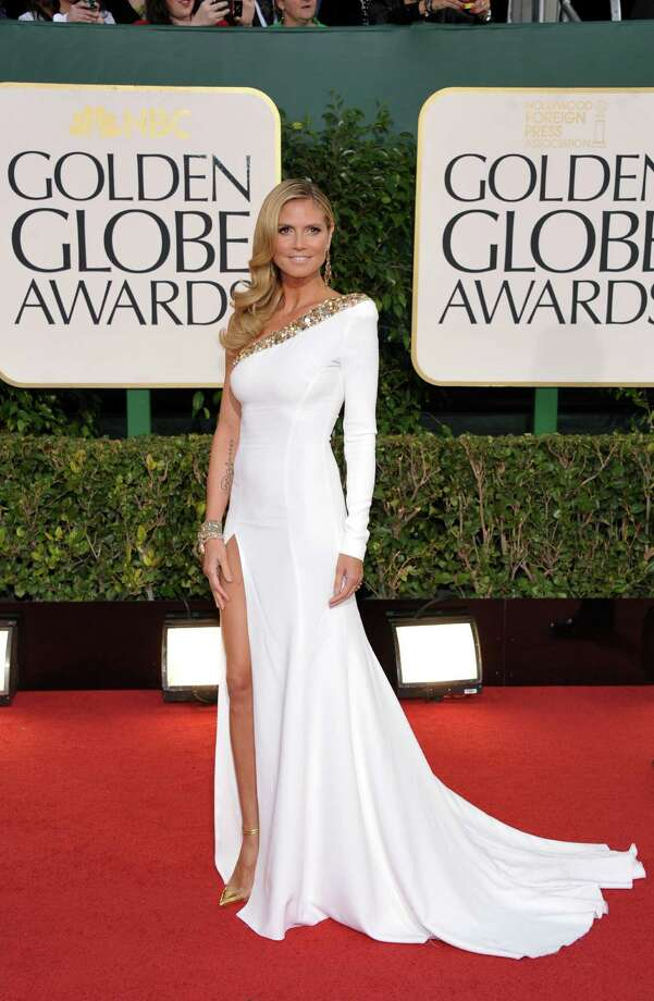 Worst:This looks like a pageant gown on Heidi Klum -- dated and too hoochie for the occasion. Photo: John Shearer/Invision/AP