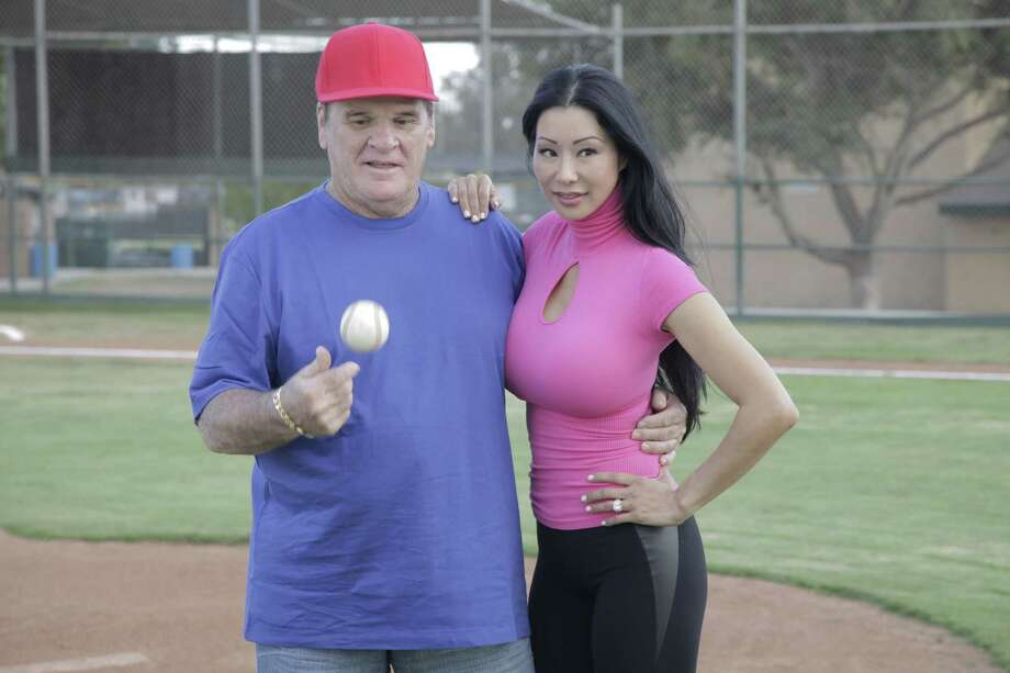 "Pete Rose and his fiancee, Kiana Kim, try to blend their families and make a painful visit to Cooperstown in new reality show ""Pete Rose: Hits & Mrs."" Photo: --"