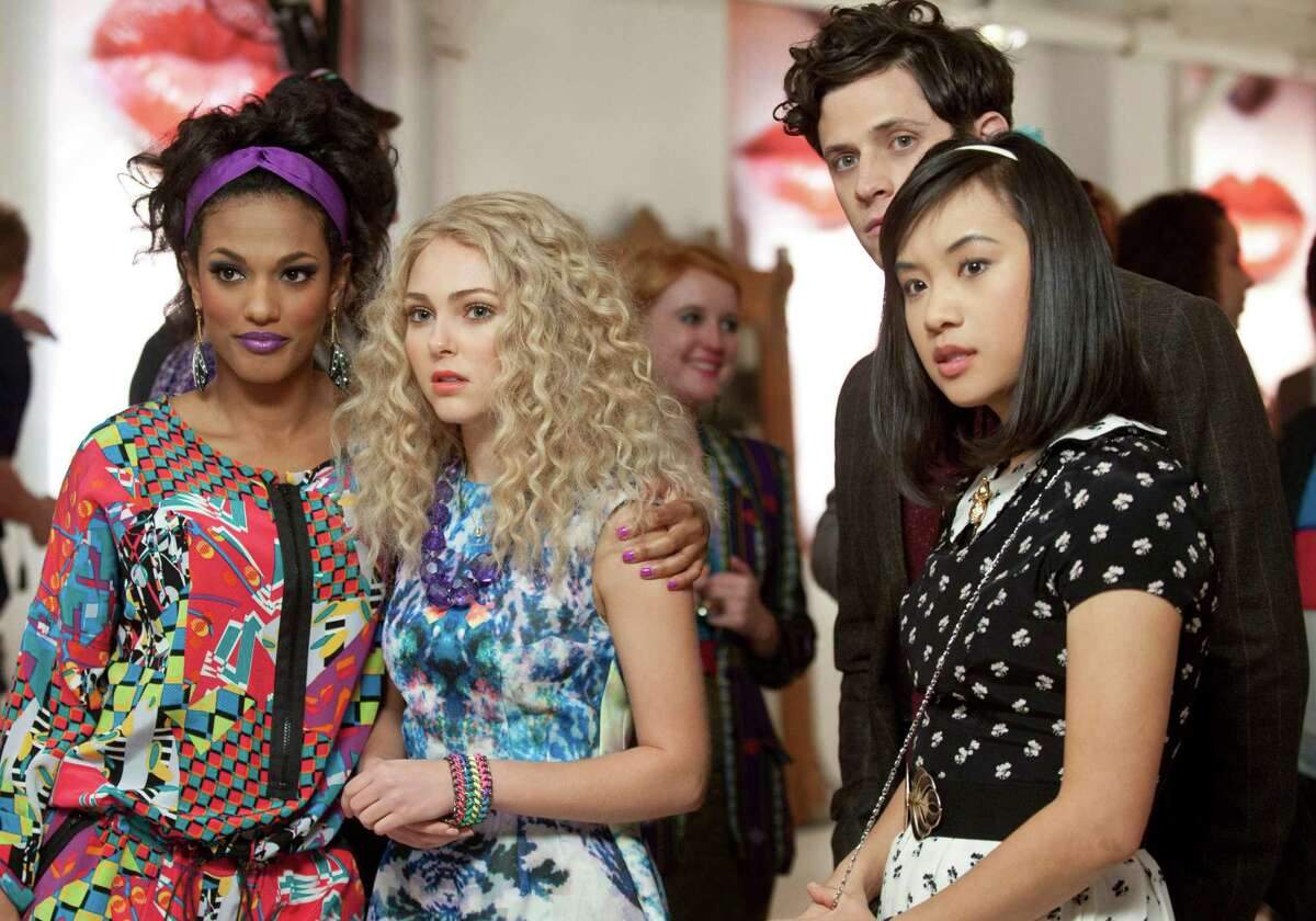 """""""The Carrie Diaries"""" stars, from left, Freema Agyeman as Larissa, AnnaSophia Robb as Carrie, Kyle Harris as Seth and Ellen Wong as Mouse."""