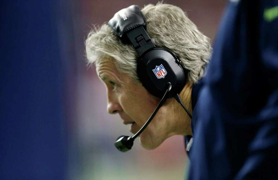 Seattle Seahawks head coach Pete Carroll during the first half of an NFC divisional playoff NFL football game against the Atlanta Falcons Sunday, Jan. 13, 2013, in Atlanta. Photo: AP