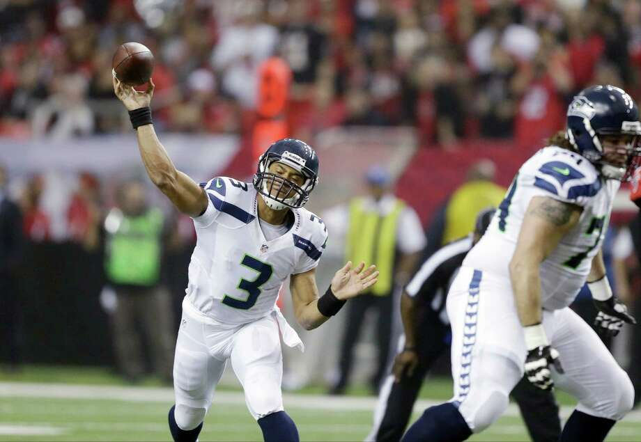 Seattle Seahawks' Russell Wilson throws during the first half of an NFC divisional playoff NFL football game against the Atlanta Falcons Sunday, Jan. 13, 2013, in Atlanta. Photo: AP