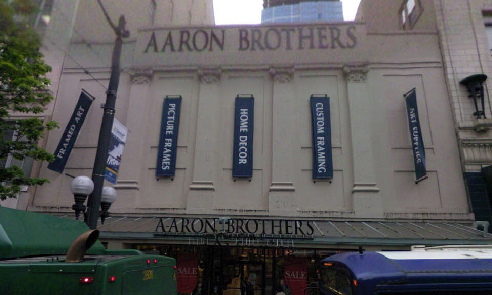 Today the former Garden Theatre, built in 1920, is home to Aaron Brothers framing and art supply sto