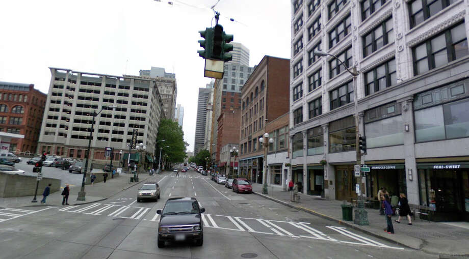 The building still exists next to the Smith Tower, but the Florence Theatre closed decades ago. Photo: Google Street View