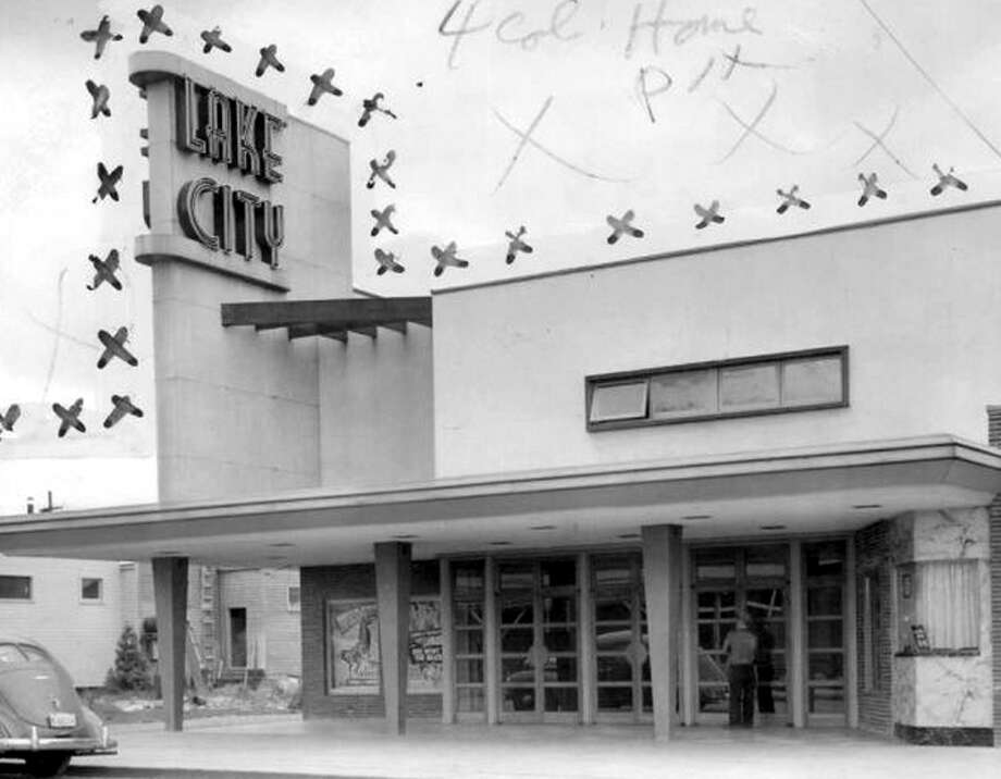 The Lake City Theater in May 1946. Marks were made by a P-I photo editor. Photo: Seattlepi.com File