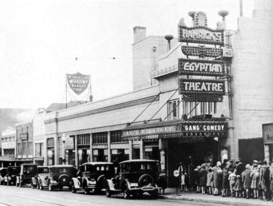 This Egyptian Theatre - not the one that's currently on Capitol Hill - was on University Way, better known as The Ave, in the 1920s. (Courtesy Puget Sound Theatre Organ Society) Photo: Courtesy Puget Sound Theatre Organ Society