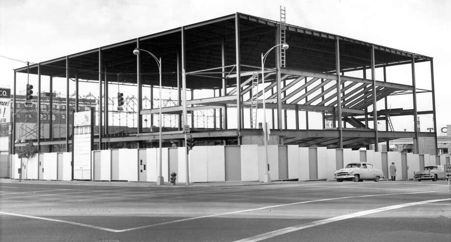 Here's the Cinerama being built in Oct. 1962 at Fourth Avenue and Lenora Street in Seattle. Photo: Seattlepi.com File