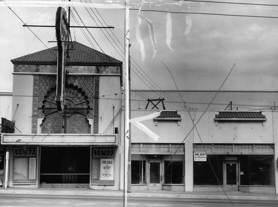 The Arabian Theatre building was constructed in 1925 when the street in front, now Aurora Avenue North, was Woodland Park Avenue. This P-I photo was taken July 10, 1956. Photo: Seattlepi.com File