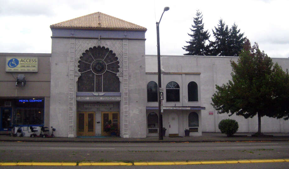 The former Arabian Theatre is now home to the Saint Germain Foundation and the I Am Temple. This picture was taken in 2010 at 7610 Aurora Ave. N. Photo: Casey McNerthney/seattlepi.com