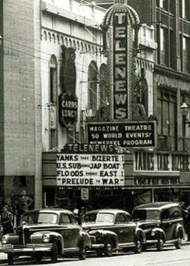 The Telenews was near Third Avenue and Pike Street in the 1940s. (Courtesy Puget Sound Theatre Organ Society) Photo: Courtesy Puget Sound Theatre Organ Society