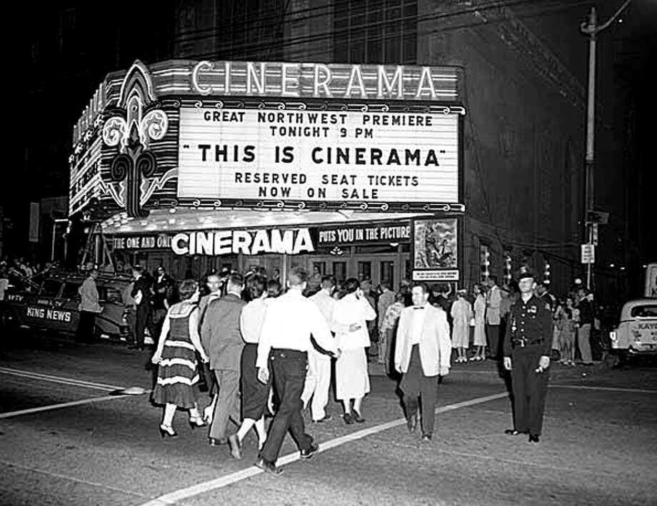 Cinerama at the Paramount Theater, 1956. (Seattlepi.com/MOHAI) Photo: Seattlepi.com File/MOHAI