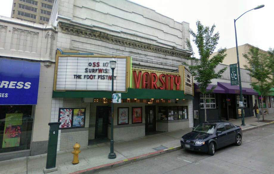The Varsity Theater at 4329 University Way N.E. has had the same neon sign since 1941. Photo: Google Street View