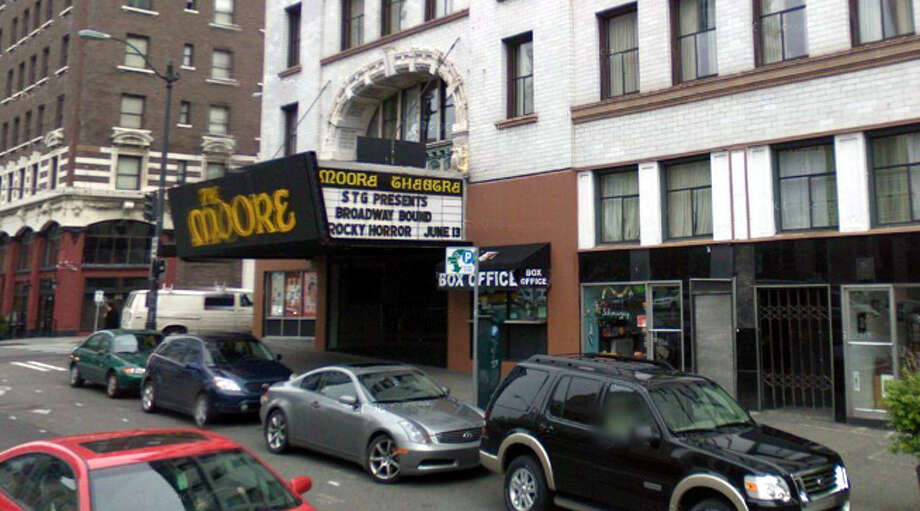 The Moore, opened as a vaudeville theater in 1907, still stands at 1932 Second Ave. in Seattle. Photo: Google Street View