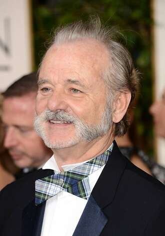 Left: Bill Murray sports serious facial hair and whimsical neckwear. Photo: Jason Merritt, Getty Images