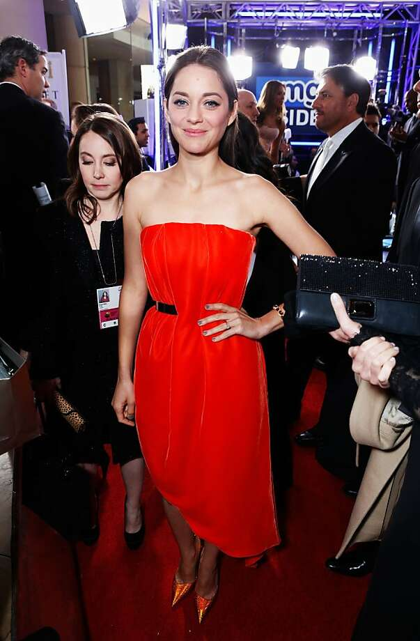 BEVERLY HILLS, CA - JANUARY 13:  Actress Marion Cotillard arrives at the 70th Annual Golden Globe Awards held at The Beverly Hilton Hotel on January 13, 2013 in Beverly Hills, California.  (Photo by Alexandra Wyman/Getty Images for smartwater) Photo: Alexandra Wyman, Getty Images For Smartwater