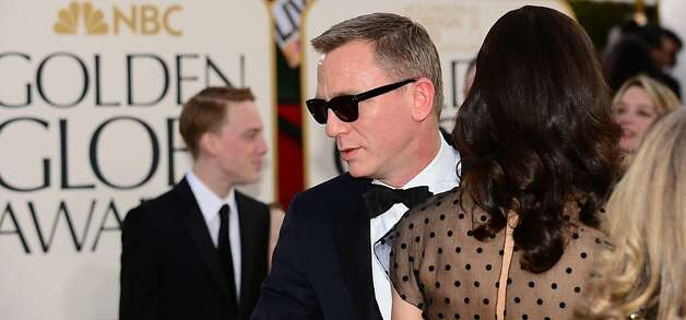 James Bond actor Daniel Craig arrives for the Golden Globe Awards in Beverly Hills on January 13, 2013. AFP PHOTO / Frederic J. BROWNFREDERIC J. BROWN/AFP/Getty Images Photo: Frederic J. Brown, AFP/Getty Images